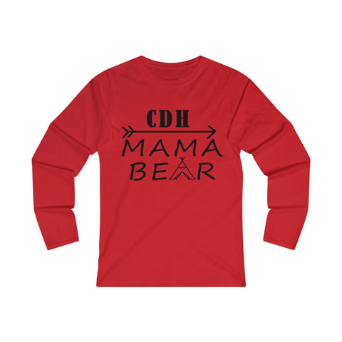 """CDH Mama Bear"" Women's Fitted Long Sleeve Tee (UK Printing)"