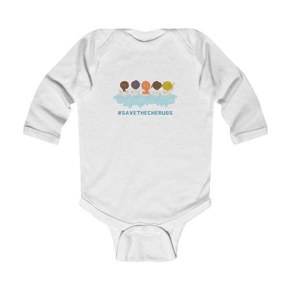 #savethecherubs Infant Long Sleeve Bodysuit