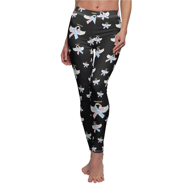 """Winged CDH Awarness Ribbon"" Women's Cut & Sew Casual Leggings"