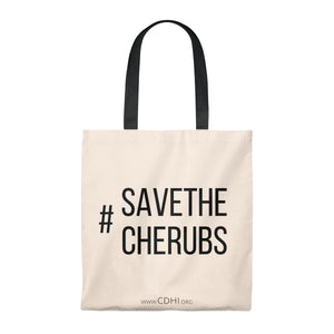 Bold #SaveTheCherubs Tote Bag