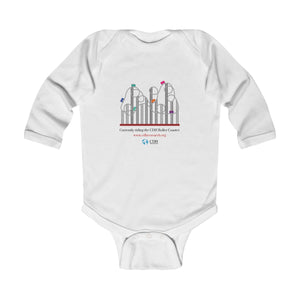 """Currently Riding the CDH Rollercoaster"" Infant Long Sleeve Bodysuit - CDH International"
