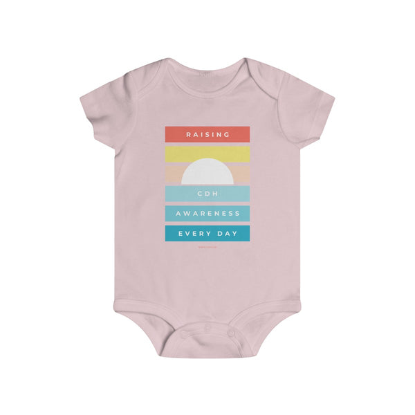 Raising CDH Awareness Every Day Infant Rip Snap Tee - CDH International