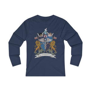 """CDHi UK Crest"" Women's Fitted Long Sleeve Tee (UK Printing)"