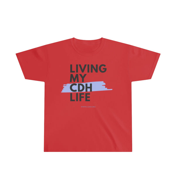 """Living My CDH Life"" Youth Ultra Cotton Tee"