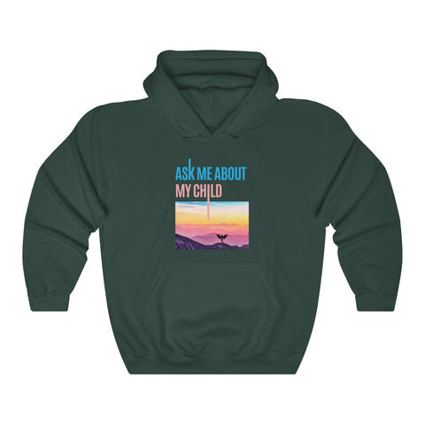 """Ask Me About My Child"" CDH Awareness Unisex Heavy Blend™ Hooded Sweatshirt - CDH International"