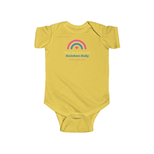 """CDH Rainbow Baby"" Infant Fine Jersey Bodysuit (UK printing)"