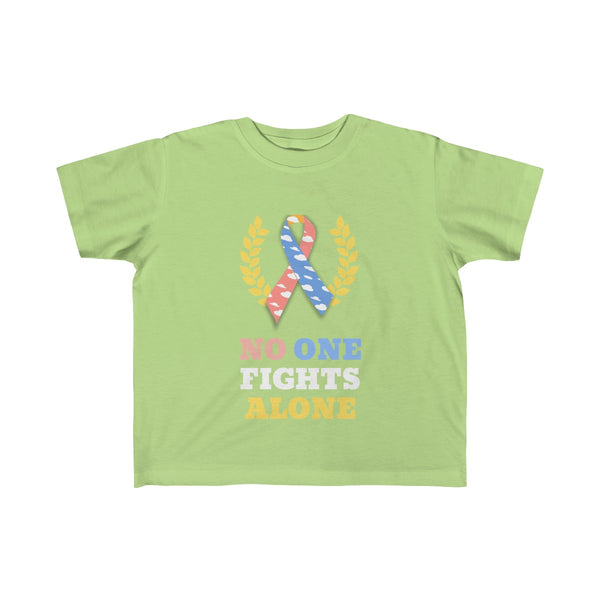 """No One Fights Alone"" CDH Awareness Kid's Fine Jersey Tee"