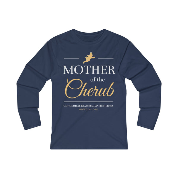"""Mother of the Cherub"" Women's Fitted Long Sleeve Tee  (UK Printing) - CDH International"