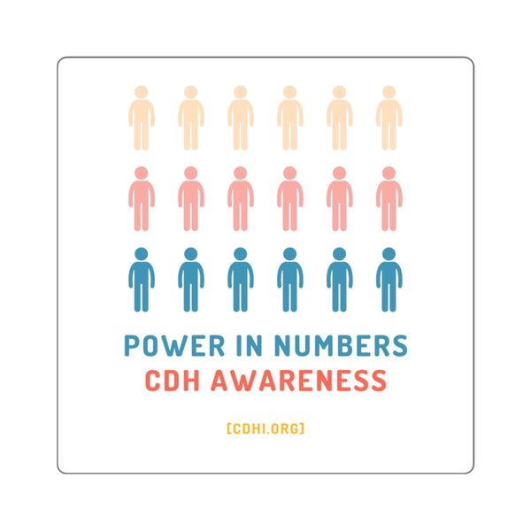 """Power in Numbers"" CDH Awareness Bumper Sticker"