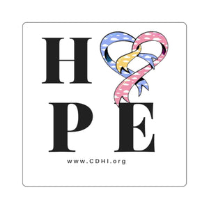 """HOPE"" CDH Awareness Bumper Sticker - CDH International"