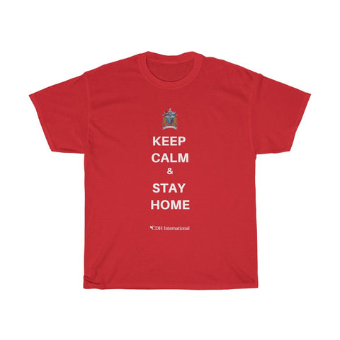 """Keep Calm & Stay Home"" CDH Awareness Shirt - Shirt #1"