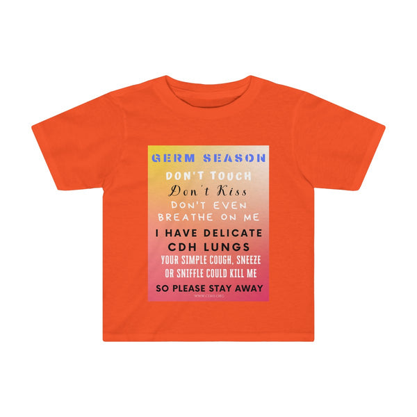 """Germ Season and CDH Lungs"" CDH Awareness Kids Tee"