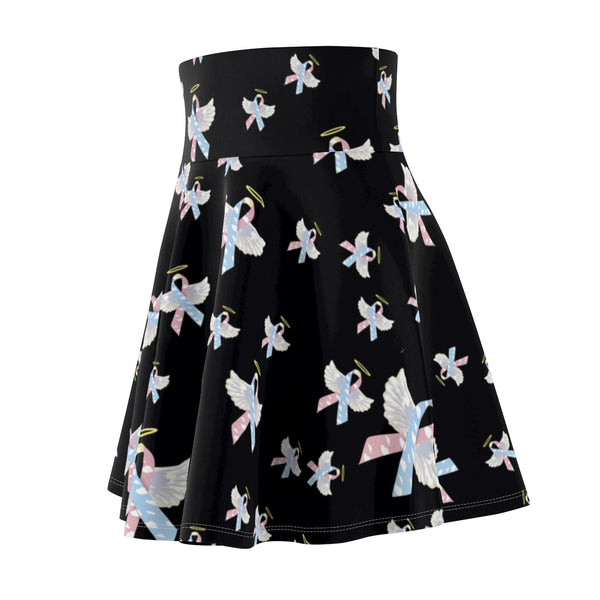 """Winged CDH Awareness Ribbon"" Women's Skater Skirt"