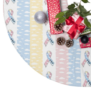 """CDH Awareness Ribbon"" Christmas Tree Skirt - CDH International"