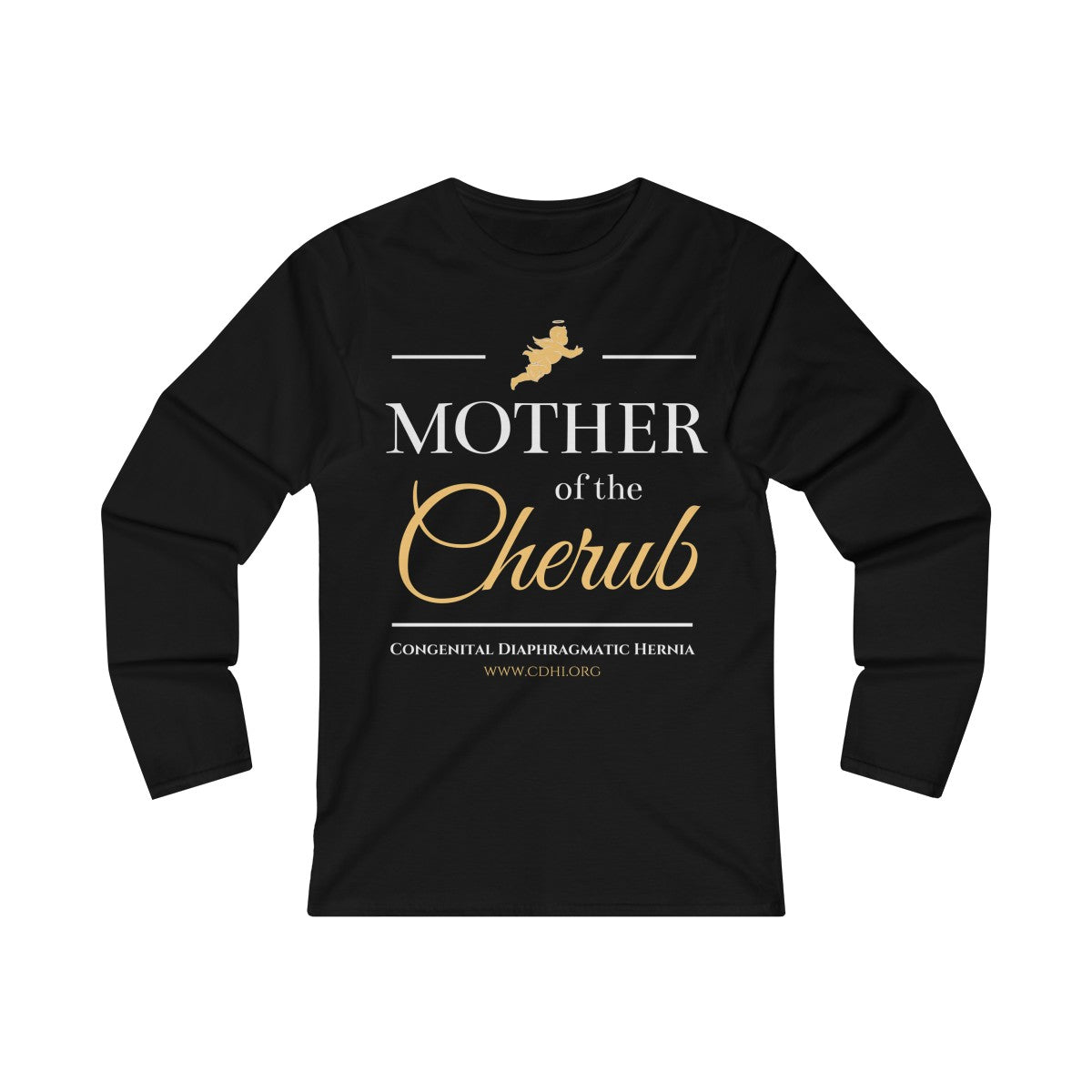 """Mother of the Cherub"" Women's Fitted Long Sleeve Tee  (UK Printing)"