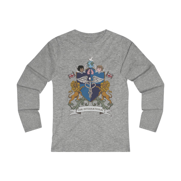 """CDHi UK Crest"" Women's Fitted Long Sleeve Tee (UK Printing) - CDH International"