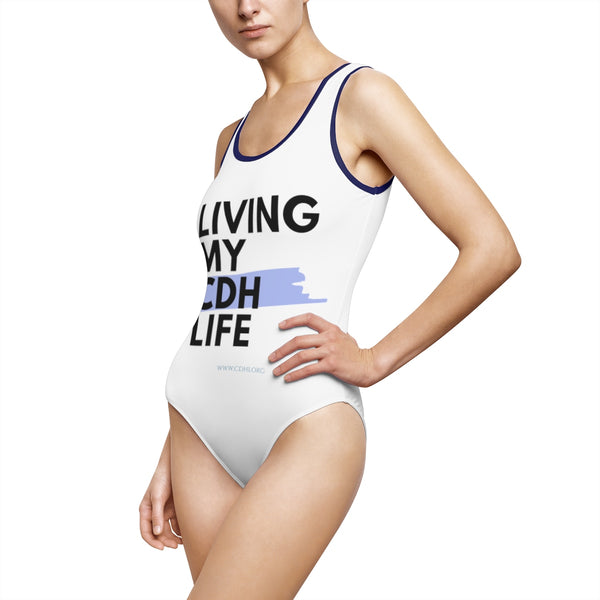 """Living My CDH Life"" Women's Classic One-Piece Swimsuit"