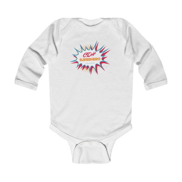 """BAM! CDH Superhero"" Infant Long Sleeve Bodysuit - CDH International"