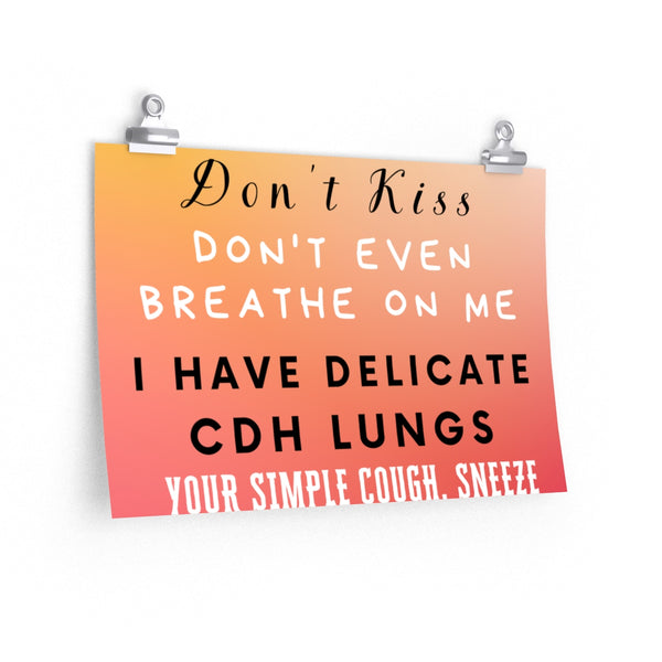 """Germ Season and CDH Lungs"" CDH Awareness Posters"