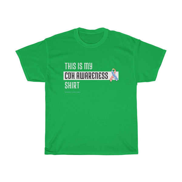 """This Is My CDH Awareness Shirt"" Unisex Heavy Cotton Tee"