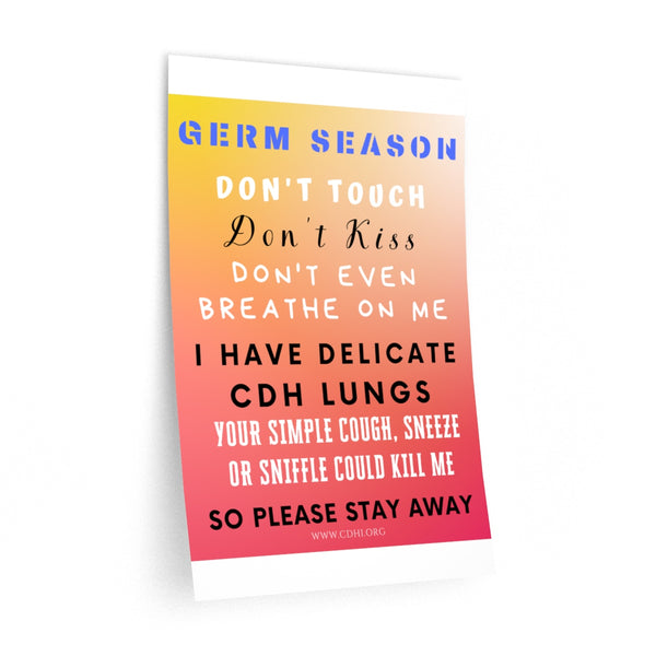 """Germ Season and CDH Lungs"" CDH Awareness Wall Decals - CDH International"