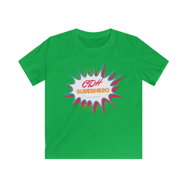 """BAM! CDH Superhero""Kids Softstyle Tee (UK Printing) - CDH International"