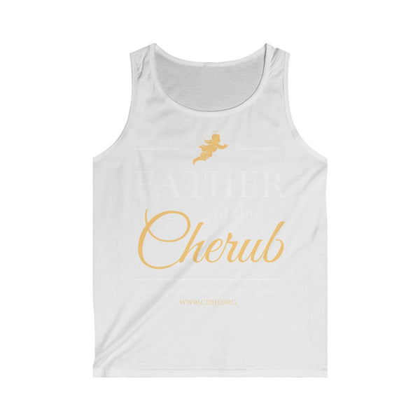 """Father of the Cherub"" Men's Softstyle Tank Top  (UK Printing)"