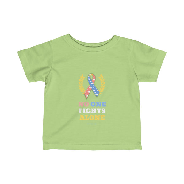"""No One Fights Alone"" CDH Awareness Infant Fine Jersey Tee"