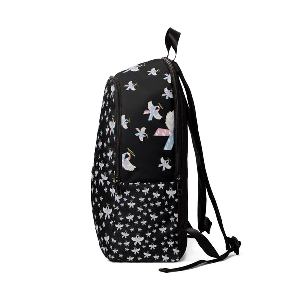 """Winged CDH Awareness Ribbon"" Unisex Fabric Backpack - CDH International"