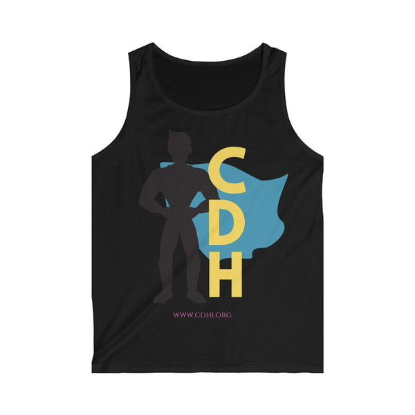 """CDH Superdad"" Men's Softstyle Tank Top (UK Printing)"