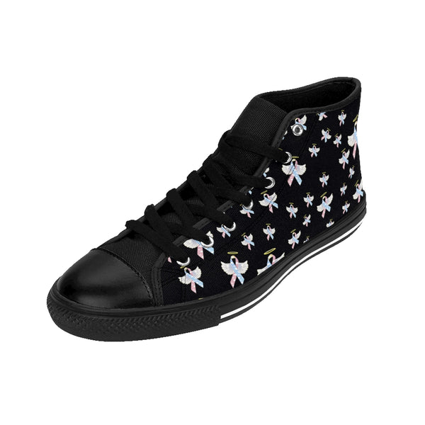 """Winged CDH Awareness Ribbon"" Men's High-top Sneakers"