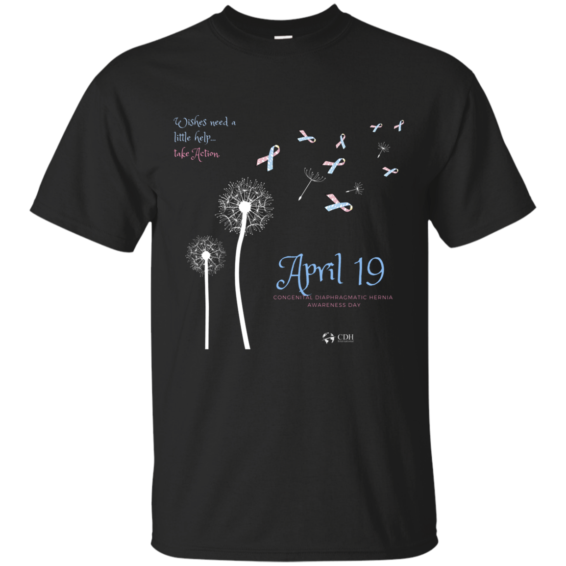 2019 CDH Awareness Day Dandelion T-Shirt - CDH International