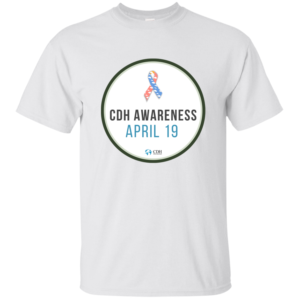2019 CDH Awareness Day Button T-Shirt - CDH International