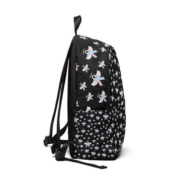 """Winged CDH Awareness Ribbon"" Unisex Fabric Backpack"