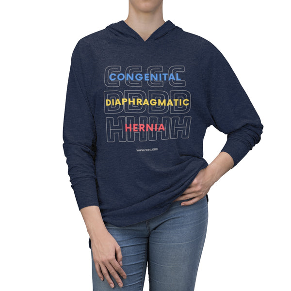 """Congenital Diaphragmatic Hernia"" Unisex Tri-Blend Hoodie - CDH International"
