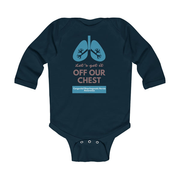 Get It Off Your Chest CDH Awareness Infant Long Sleeve Bodysuit - CDH International