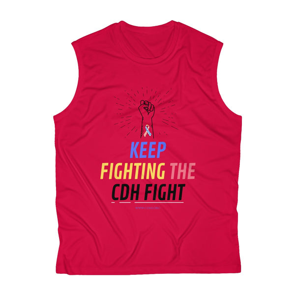 """Keep Fighting the CDH Fight"" Men's Sleeveless Performance Tee"