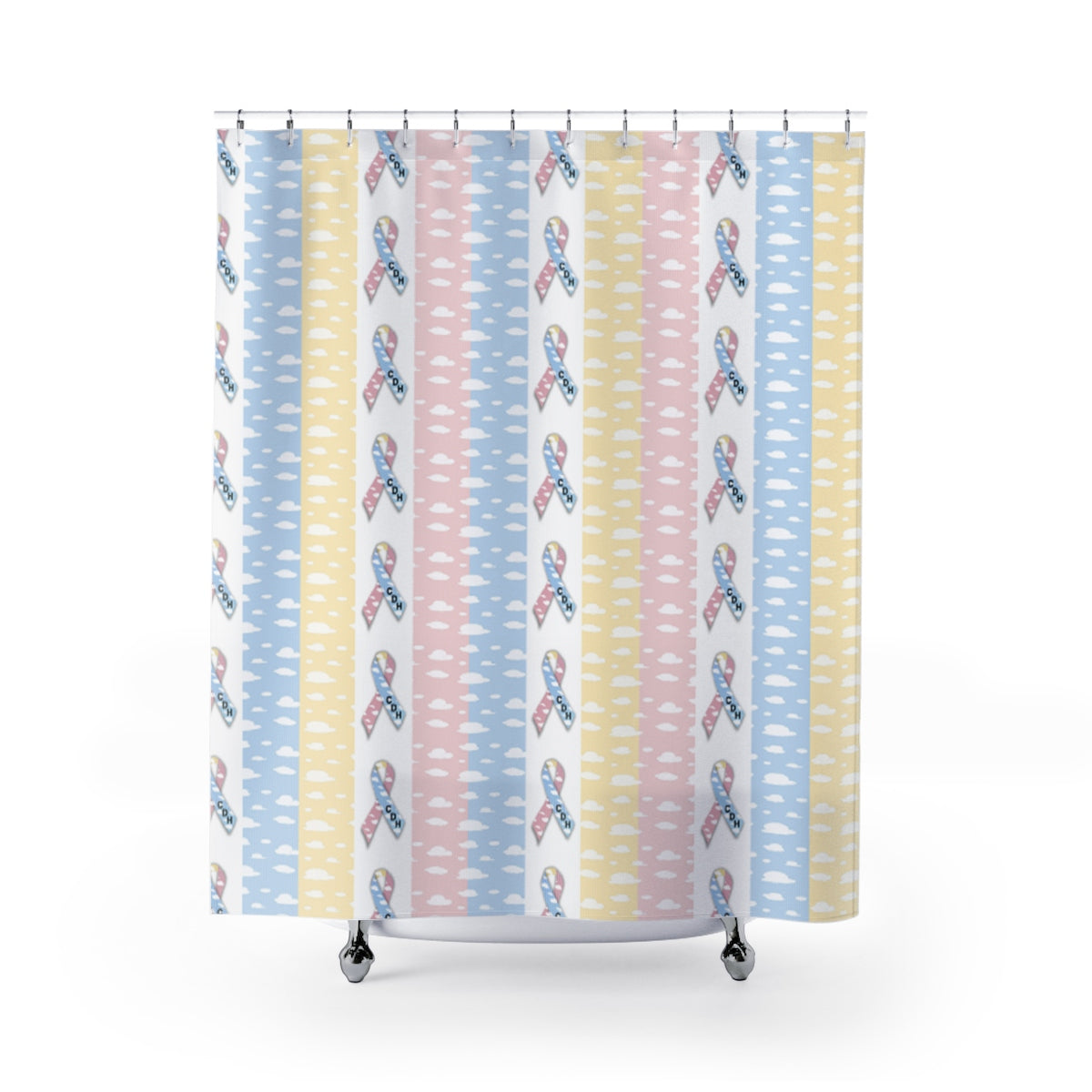 """CDH Awareness Ribbon"" Shower Curtains"