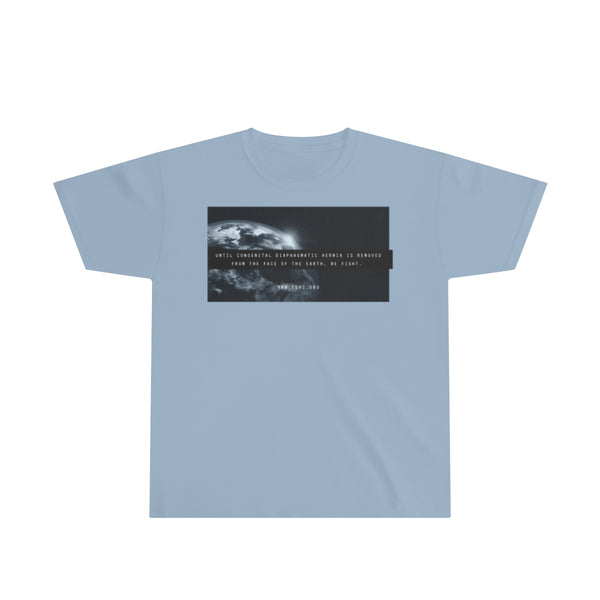 """Remove CDH From the Face of the Earth"" CDH Awareness Youth Ultra Cotton Tee - CDH International"
