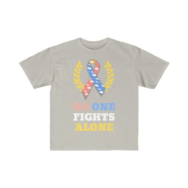 """No One Fights Alone"" CDH Awareness Kids Retail Fit Tee"