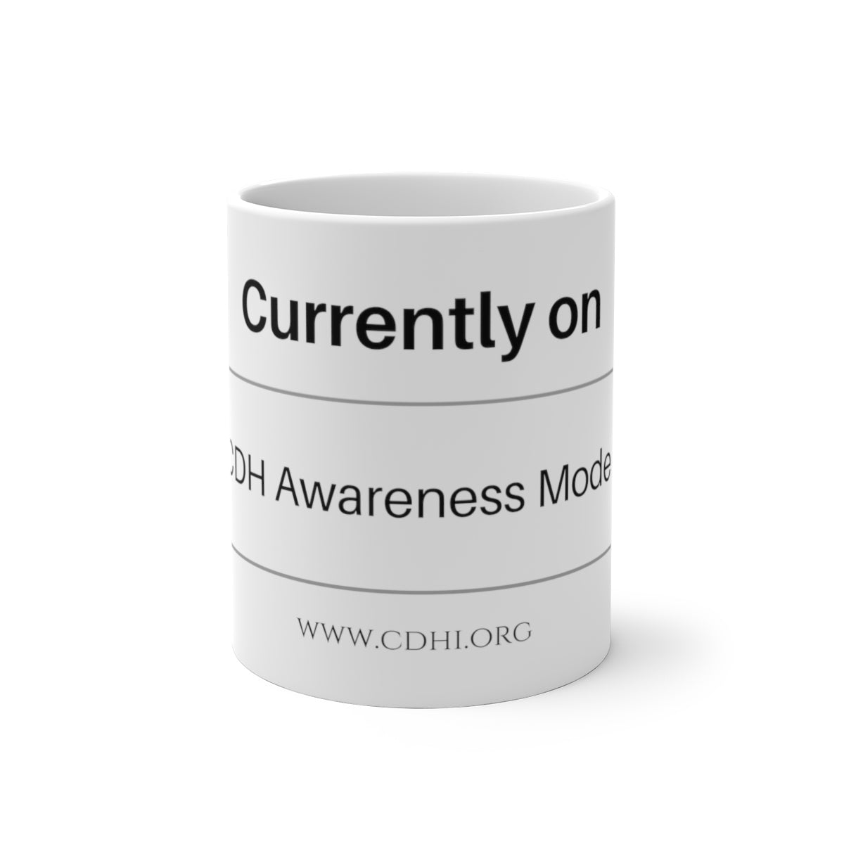 """Currently on CDH Awareness Mode"" Color Changing Mug - CDH International"
