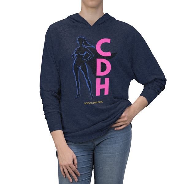 """CDH Superhero Mom"" Unisex Tri-Blend Hoodie - CDH International"