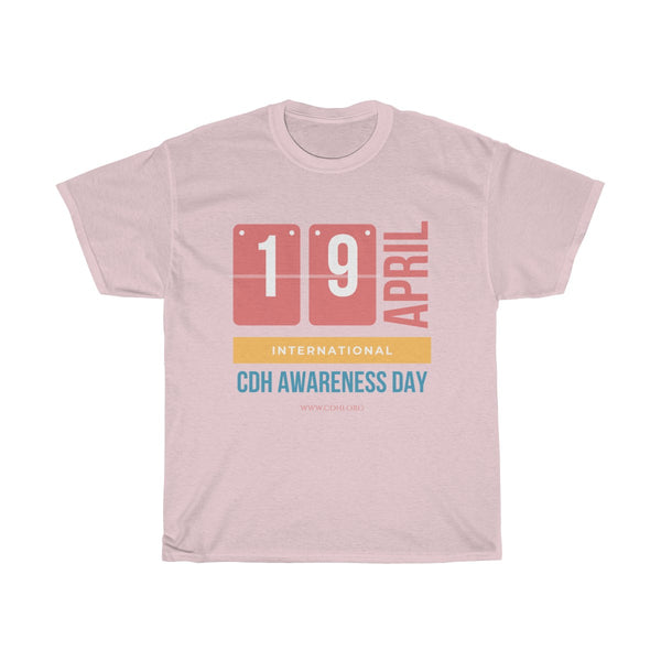 """April 19 is CDH Awareness Day"" Unisex Heavy Cotton Tee - CDH International"