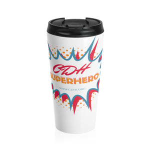 """BAM! CDH Superhero"" Stainless Steel Travel Mug"