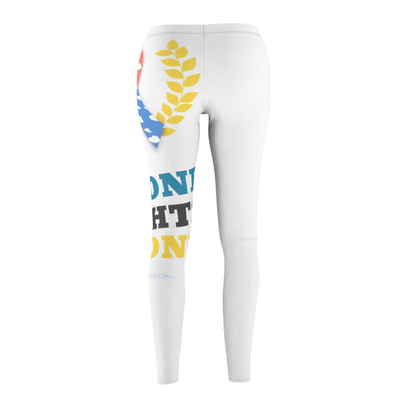 """No One Fights CDH Alone"" CDH Awareness Women's Cut & Sew Casual Leggings - CDH International"