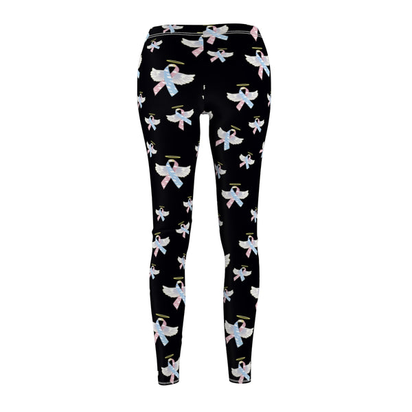 """Winged CDH Awarness Ribbon"" Women's Cut & Sew Casual Leggings - CDH International"
