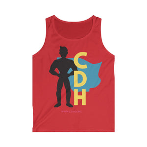 """CDH Superdad"" Men's Softstyle Tank Top (UK Printing) - CDH International"