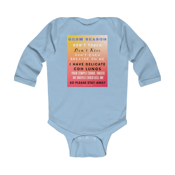 """Germ Season and CDH Lungs"" CDH Awareness Infant Long Sleeve Bodysuit"