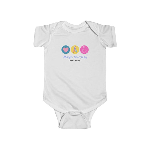 """Stronger than CDH"" Infant Fine Jersey Bodysuit"