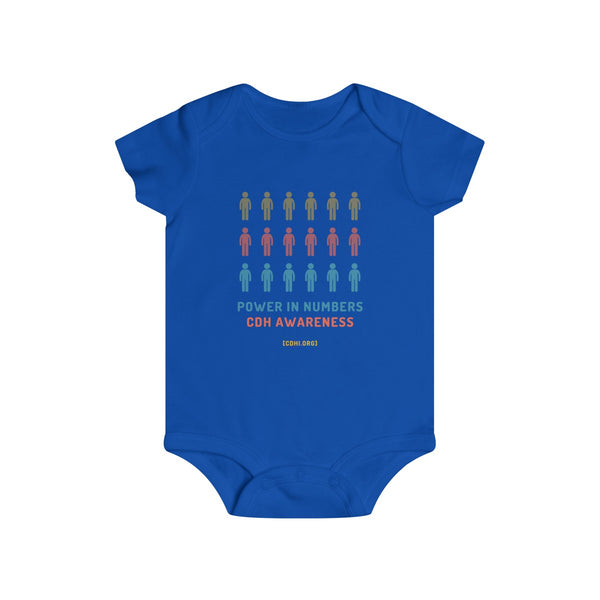 Power in Numbers CDH Awareness Infant Rip Snap Tee - CDH International
